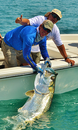 Capt. Jesse with tarpon.